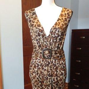 Women's size 1X Leopard Print Dress